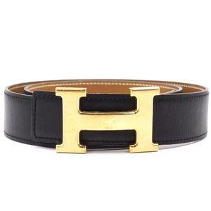 Hermes Reversible H Belt Black/Tan